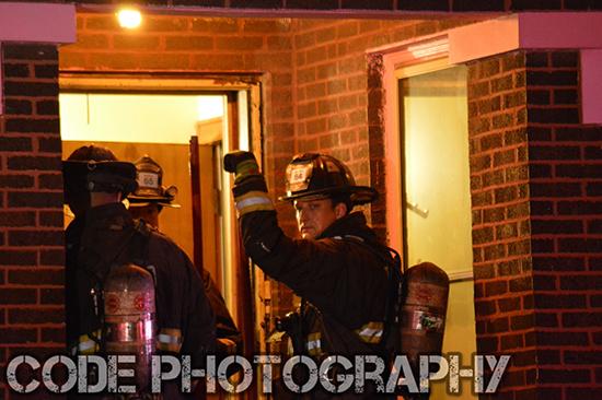 fireman at night