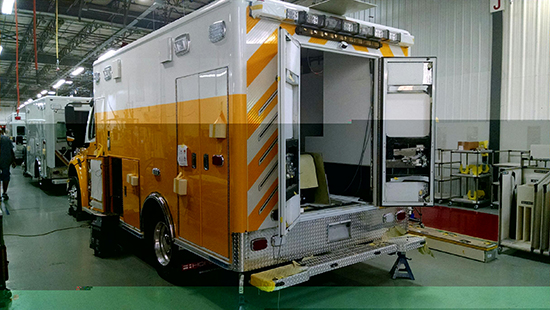 ambulance being built