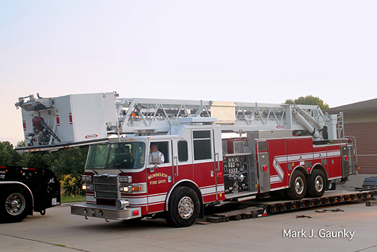 former Sugar Grove tower ladder moves to Miundelein