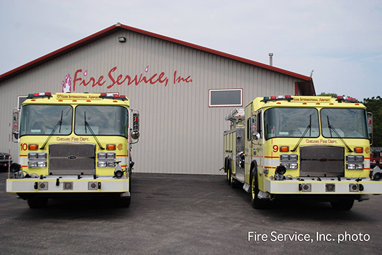 new fire engines for O'Hare airport