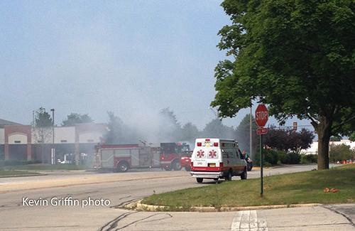 car fire scene
