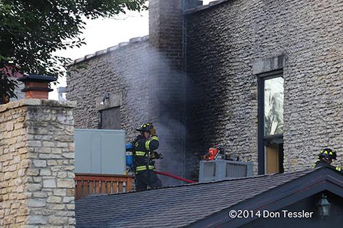 fireman at fire sene