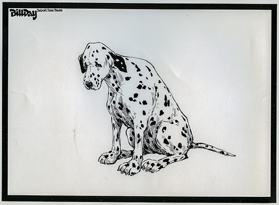 lithograph of dalmation crying