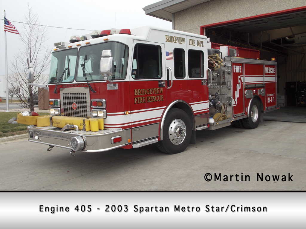 Spartan Metro Star Crimson fire engine