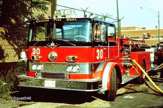 old Chicago fire truck