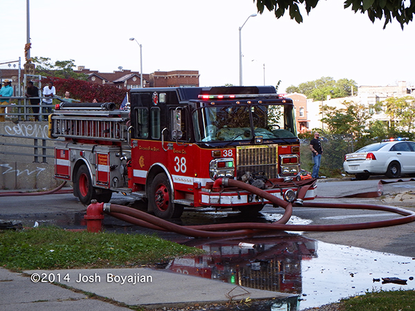 Chicago FD engine at fier scene