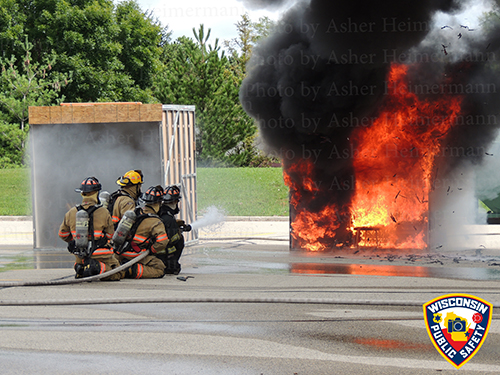 house fire demonstration