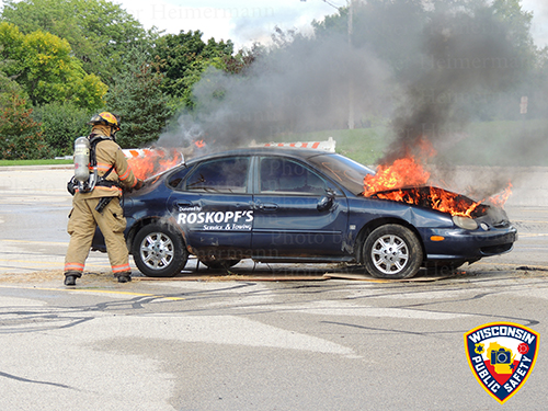 car fire demonstration