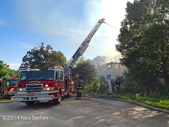 Pierce Impel quint at fire scene