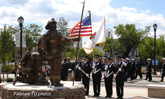 Palatine fire department and police department honor guard