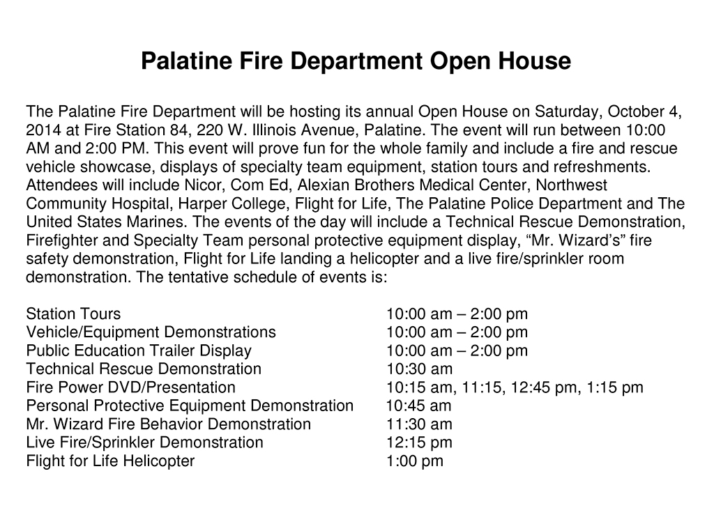 PEF Open House Press Release 2014.doc