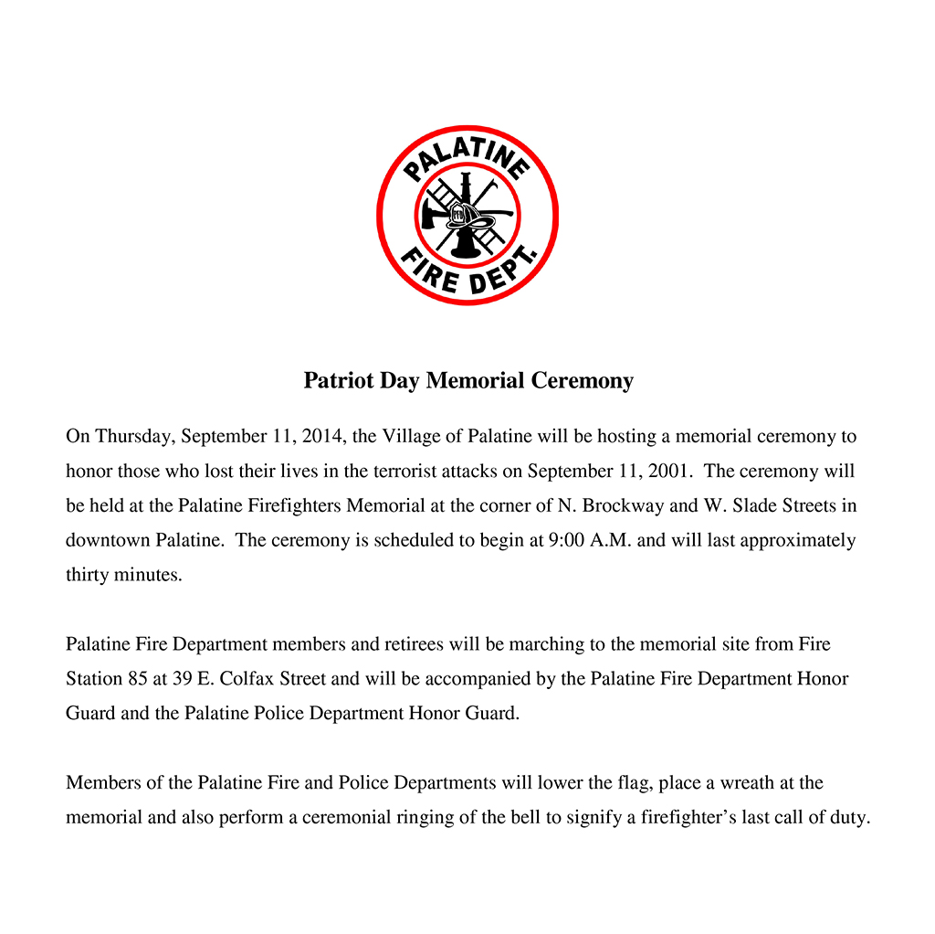 Sept 11th Memorial Press Release.doc