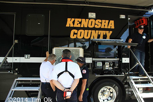Kenosh County mobile command post