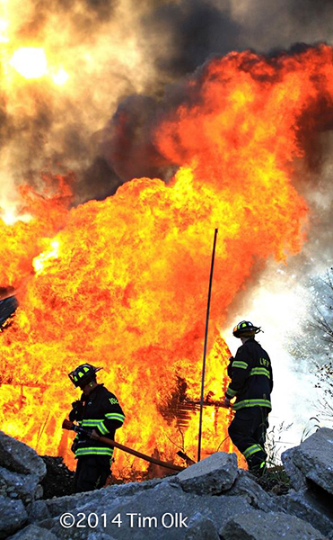 barn fully engulfed in fire