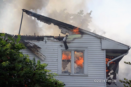 house collapses after fire