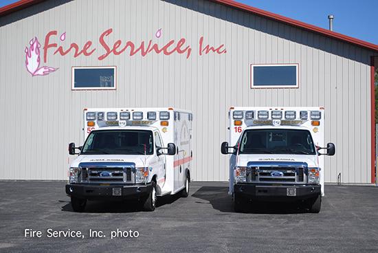 Wheeled Coach Type III ambulances for Chicago