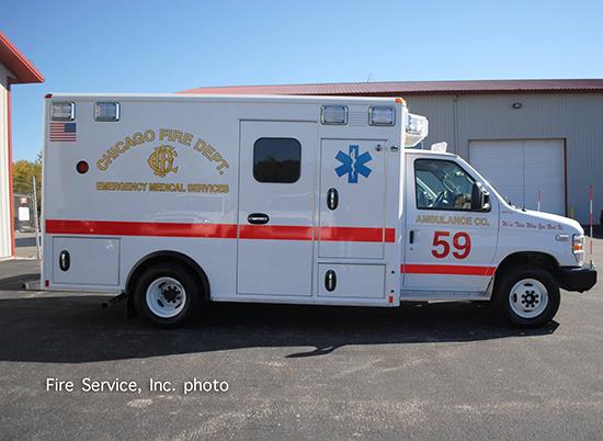 Wheeled Coach Type III ambulance for Chicago