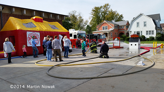 fire department open house for Fire Prevention Week