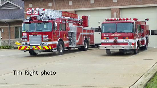 Addison Fire District fire trucks
