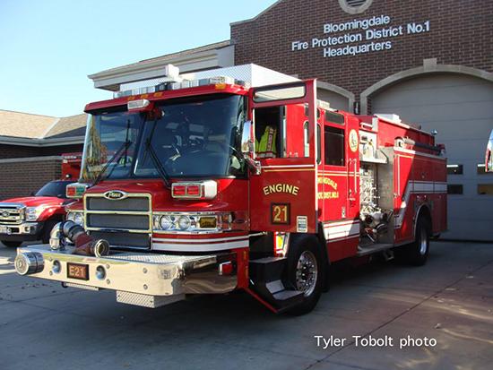 Pierce fire truck photo