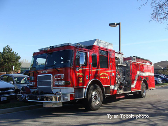 Pierce fire truck photo