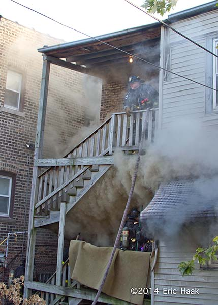 smoke from fire seen from back porches