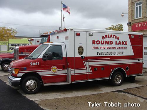 Round Lake FPD ambulance