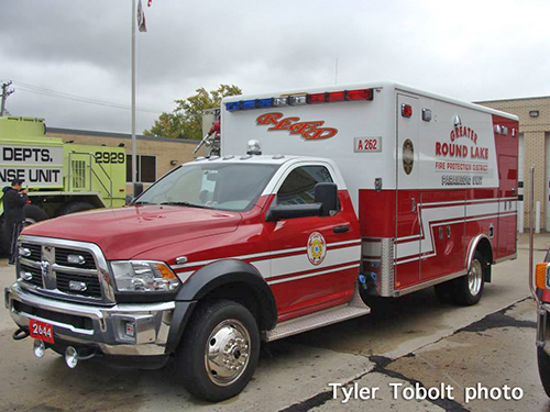 Round Lake FPD ambulance