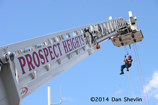fire department high angle rescue demonstration