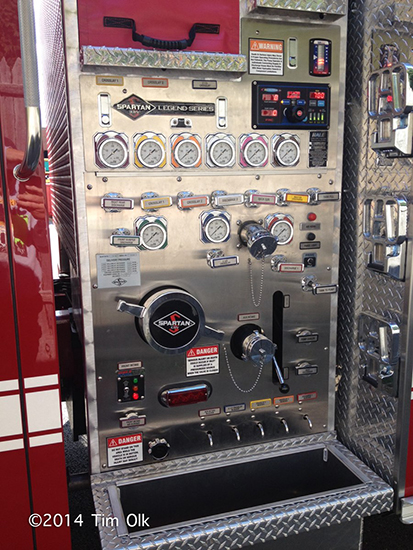 fire engine pump panel