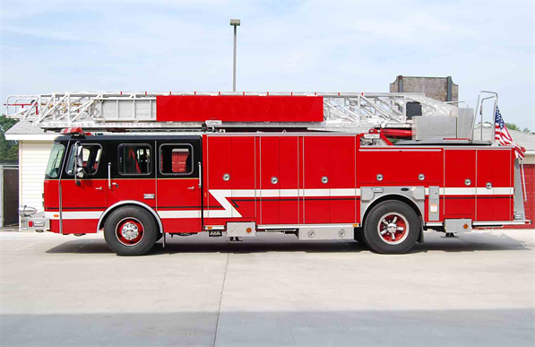 Former Evergreen Park ladder truck for sale