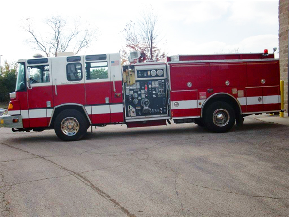 Pierce Quantum fire engine for sale