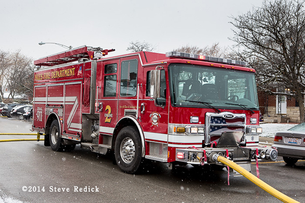 Pierce Dash CF fire engine
