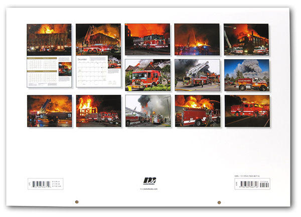 Fire Trucks in Action 2015 Wall Calendar