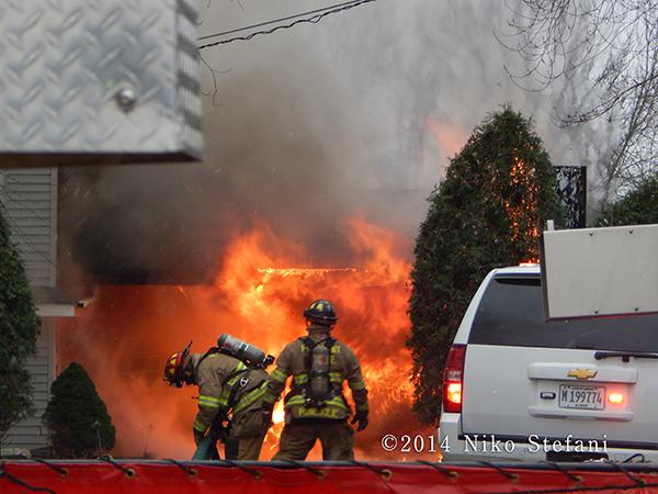 firemen fight large fire
