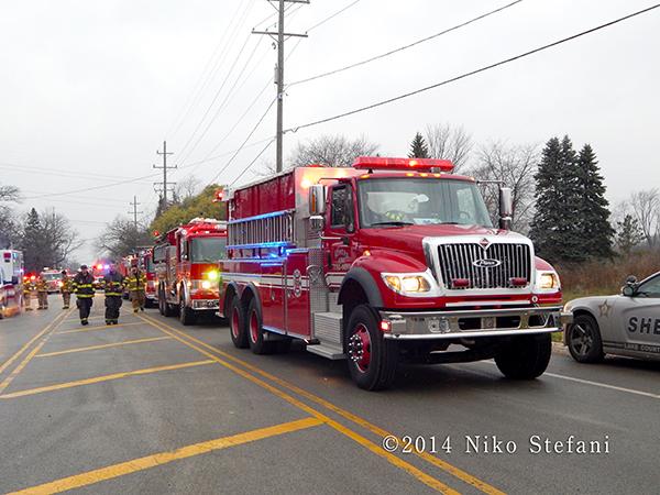 fire department water tender shuttle
