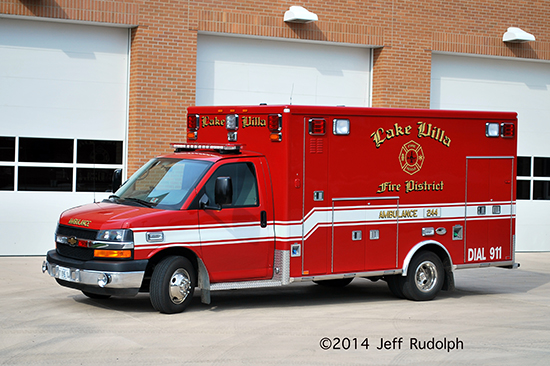 Lake Villa FD Ambulance 244