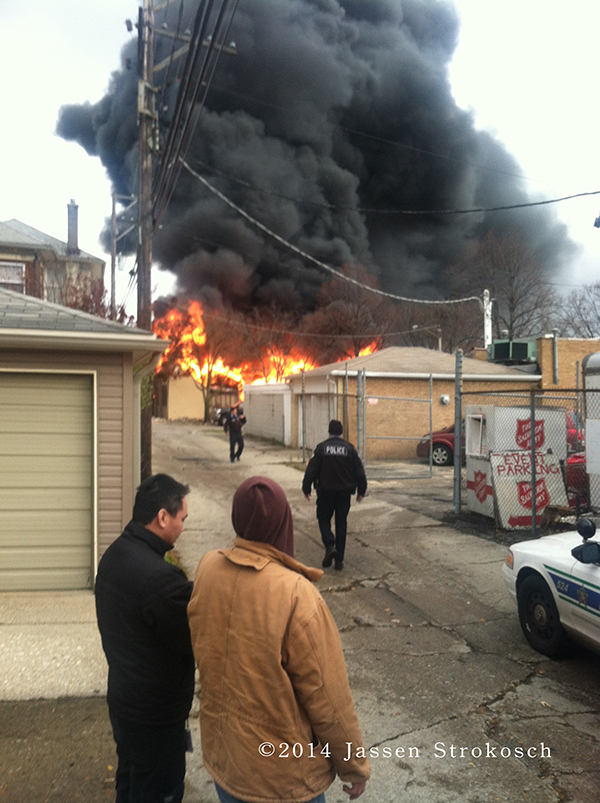 Turano Bakery garage fire in Oak Park