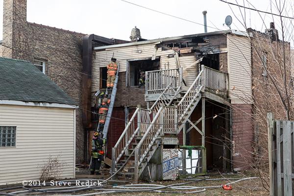 firemen at fire scene