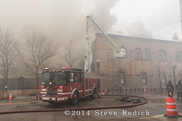 fire scene photo with heavy smoke