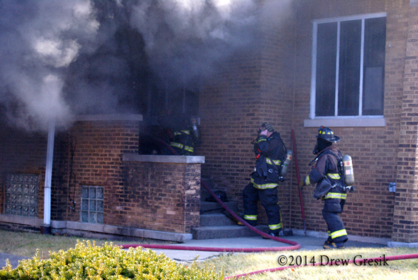 smoke from house on fire