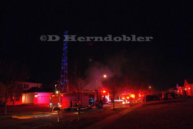 night fire scene