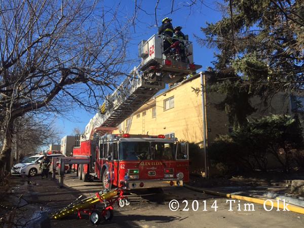 Grumman AerialCat at fire scene