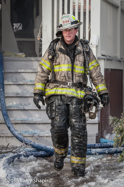 fire chief covered in ice