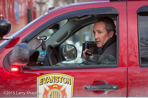 Evanston FD Battalion Chief command officer