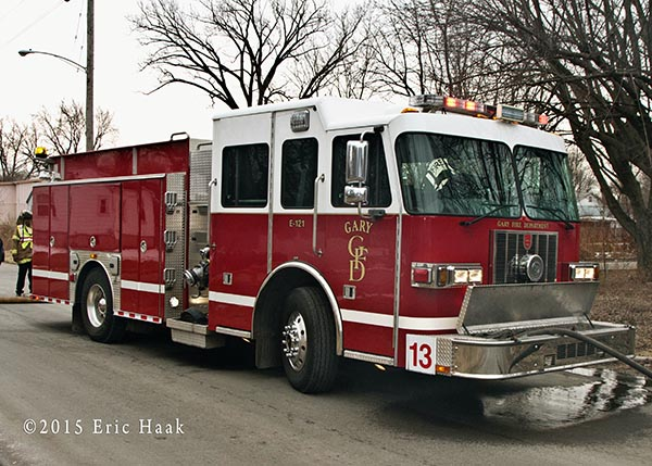 Gary Fire Department fire engine
