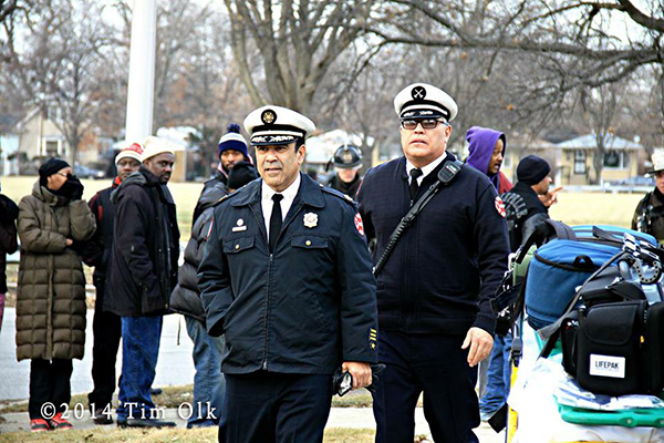 Chicago Fire Commissioner Jose Santiago