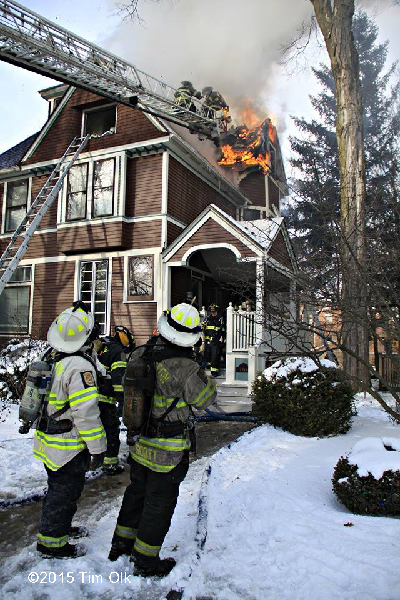 fire chiefs at house fire