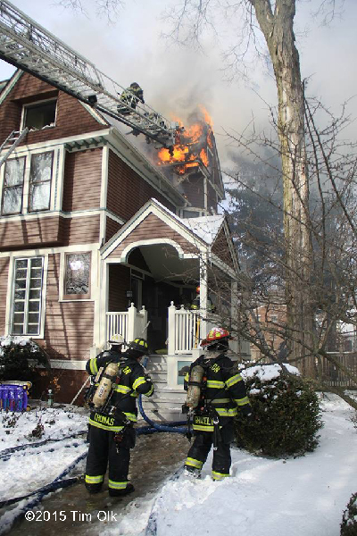house fire in the winter
