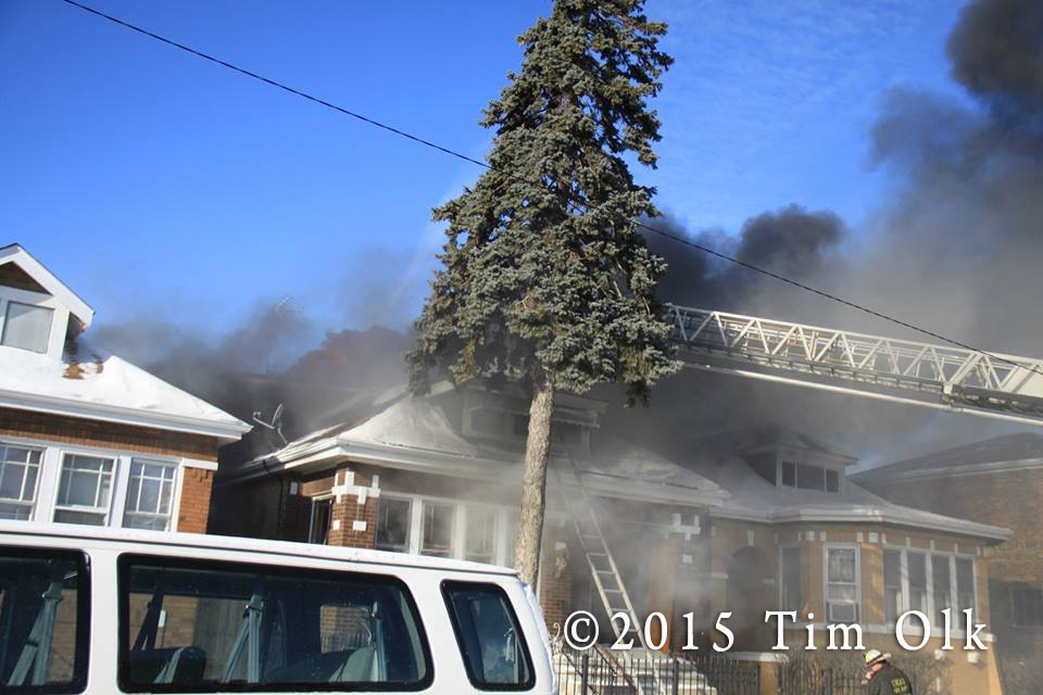 winter house fire photo